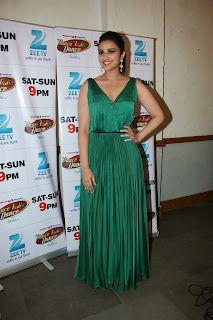 Parineeti Chopra in Geen Sleevless Floor length Gown Spicy HQ Pics