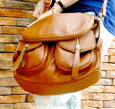 Aldo leather bag in camel