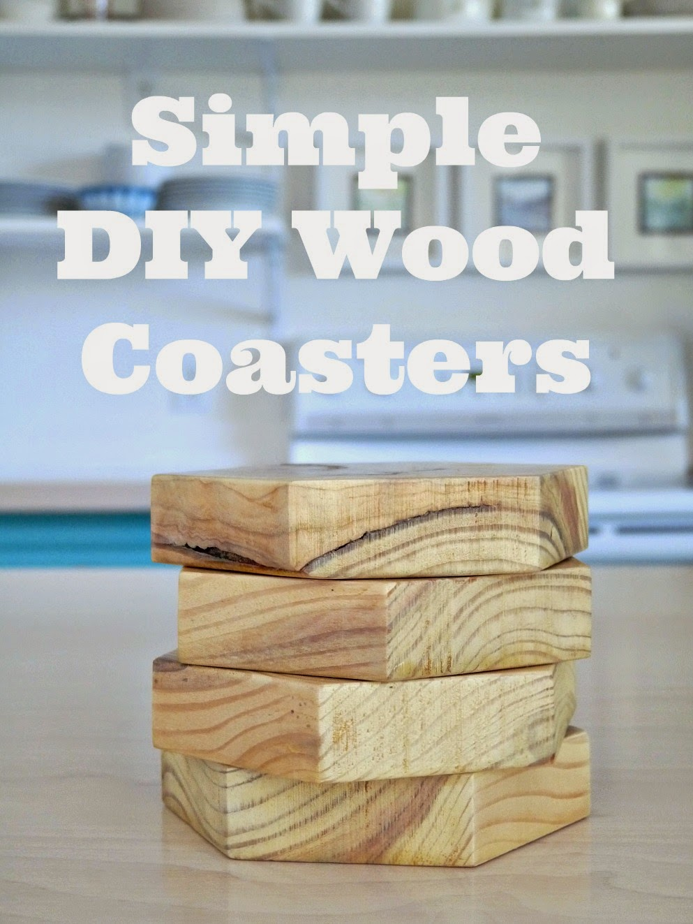 diy wood coasters two ways dans le lakehouse. Black Bedroom Furniture Sets. Home Design Ideas