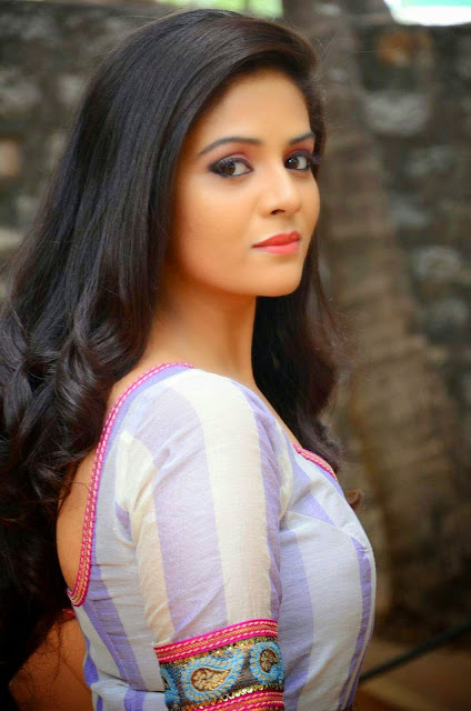 Srimukhi Stills at Dhanalakshmi Thalupu Thadithe Movie Press Meet Photos