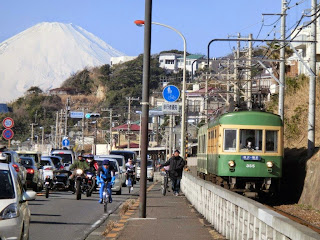 江ノ電と富士
