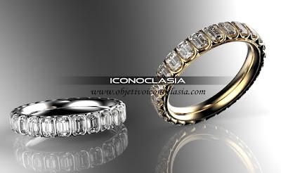 Anillo oro amatista esmeralda aguamarina diamante