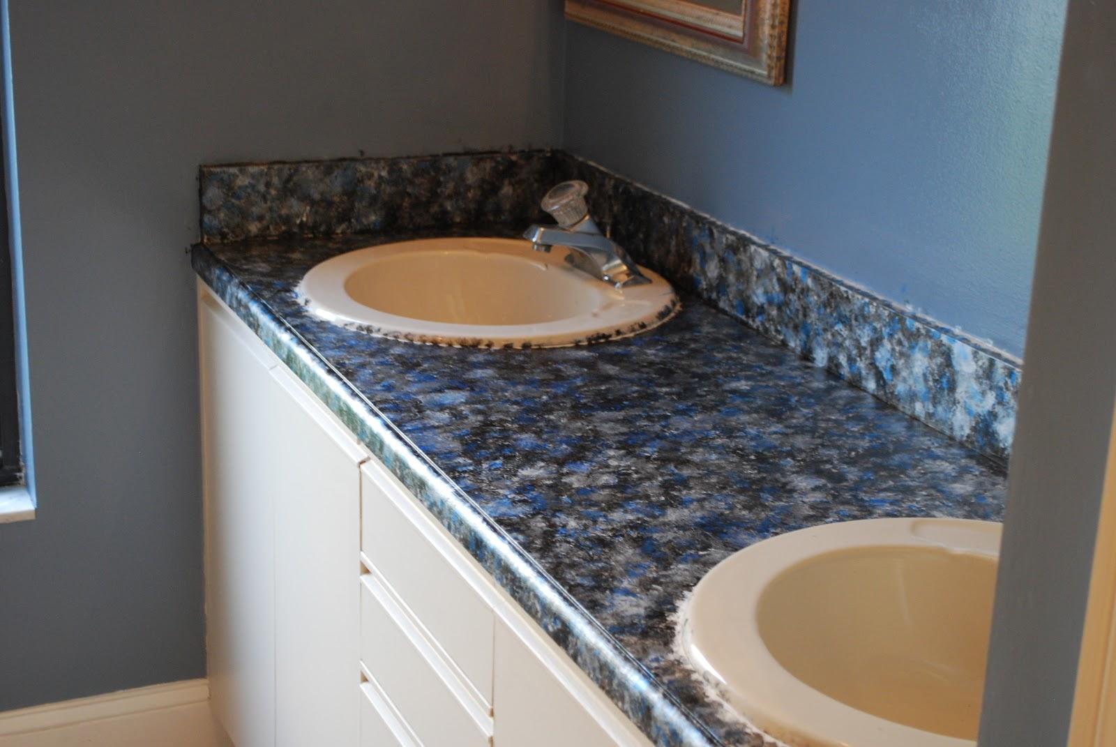 Countertop Paint Tutorial : Karas Korner: Tutorial : How to Paint Bathroom Countertops to Look ...