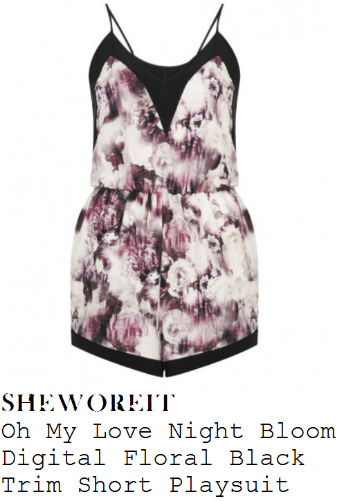 charlotte-crosby-black-white-purple-floral-print-sleeveless-playsuit