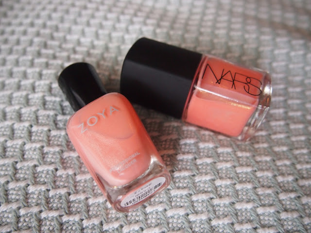 nars orgasm zoya cassi comparison