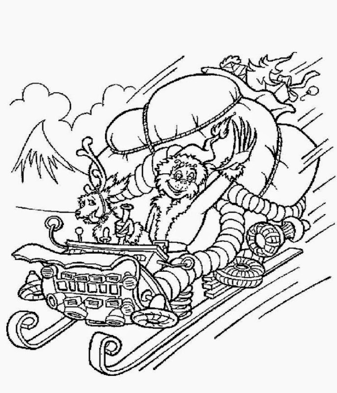 Grinch coloring sheets free coloring sheet for Grinch coloring pages free