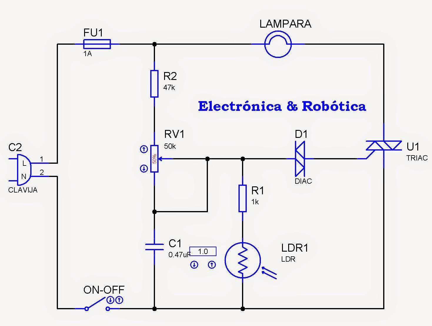 Circuito Ldr Con Potenciometro Tresdeland Tu Mundo D Control De Sensor Luz Com Te1 E R By Mrchunckuee Fotoelctrico Nocturna