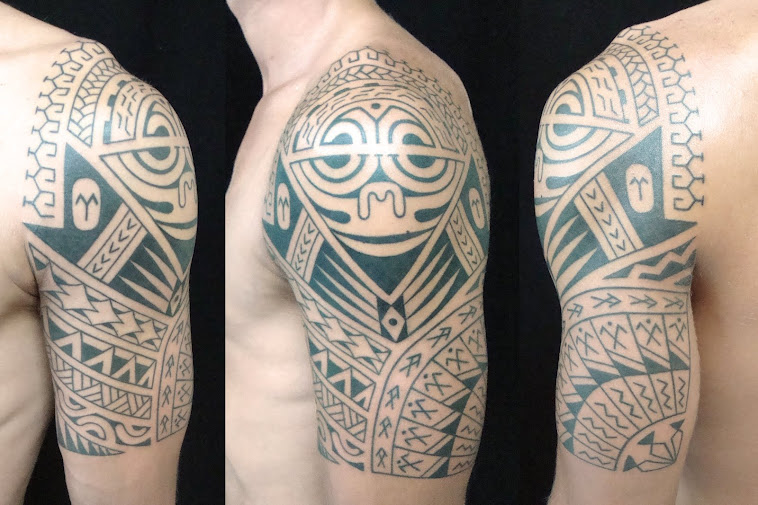 Marquesas samoan cookisland mixed style tattoo