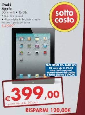 Risparmio offerte Panorama maggio tablet apple