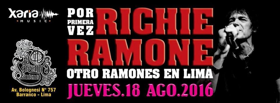 RITCHIE RAMONE (RAMONES) CLUB SARGENTO PIMIENTA. 18 DE AGOSTO 2016