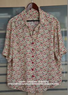 (45) Enero/14: Camisa Fibrana floreada