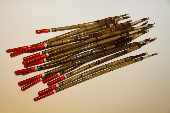 Handmade Reed Waggler Floats, porcupine quill stems & bi-colour tips