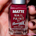 Barry M Matte Nail Paint - Crush