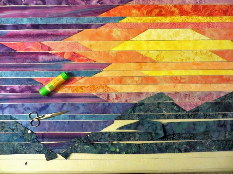 Cathy Geier's Quilty Art Blog: Making Blue Ridge Mountain Sunset : mountain quilts - Adamdwight.com