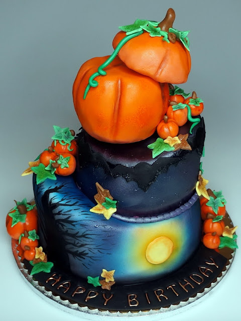 Halloween Birthday Cake in London
