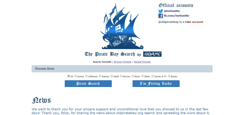 Pirate proxy