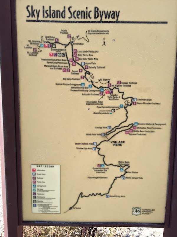 Sky Island Scenic Byway map