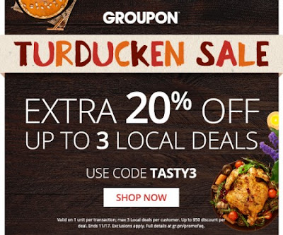 Groupon Turducken Sale Extra 20% Off Local Deals Promo Code