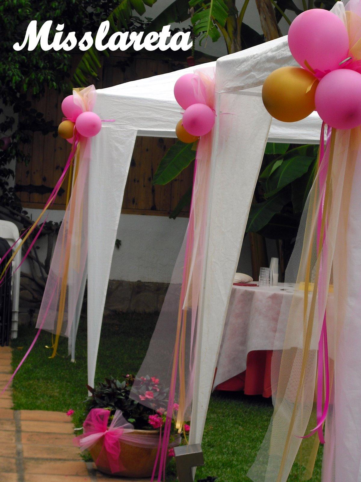 Bautizo Decoracion Jardin ~ Las carpas estaban decoradas con grandes lazos de tul y cintas de