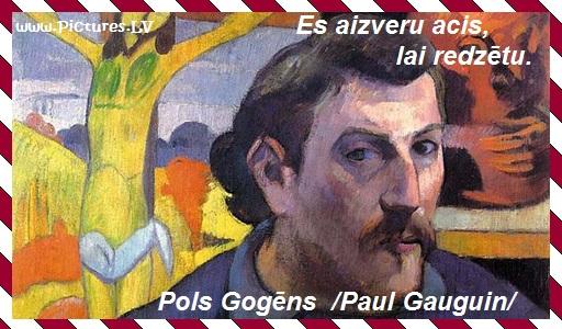 Pols Gogēns pašportrets