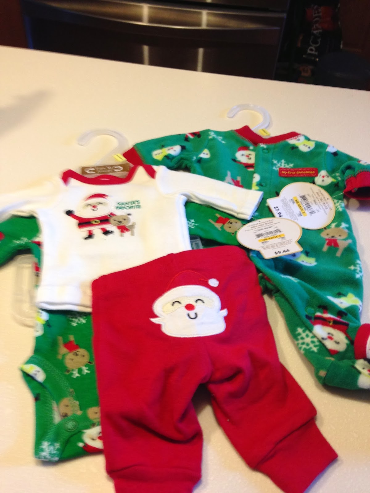 Christmas Dolls need Christmas outfits. The sleepers are $7.94 and the  three piece onesie pants sets $9.44. - Creating Kidstuff: More Bitty Baby Clothing Options--Walmart