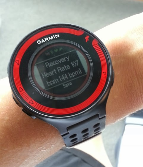 2-minute Heart Rate Recovery จากนาฬิกา Garmin