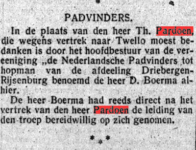 Newspaper article: Scouting Driebergen