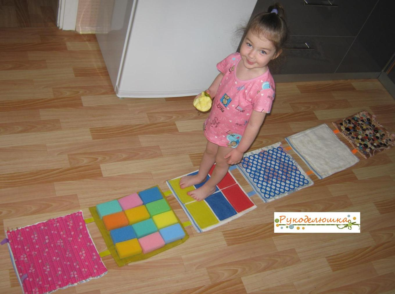 Детский массажный коврик для ног своими руками фото