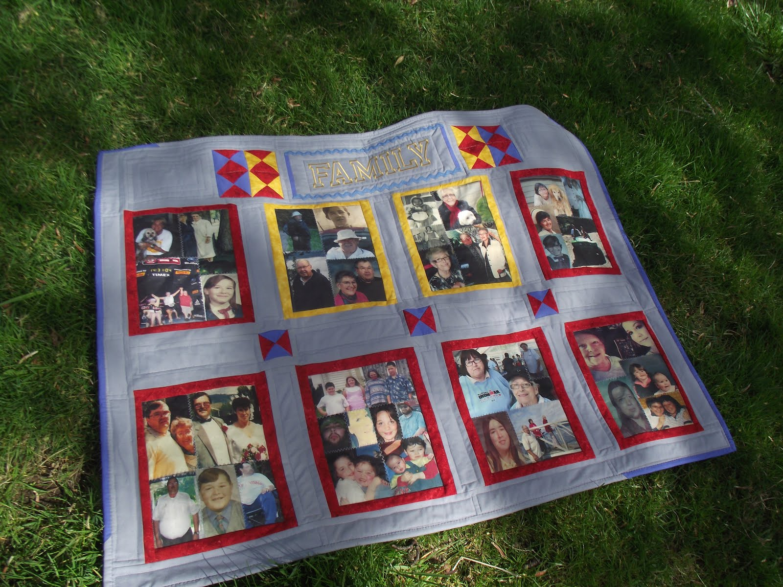 Fabric Photo Album Lap Quilt