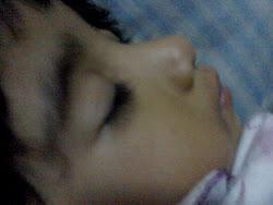 bagai disirami salju hati ini tika melihat matanya terpejam diulik mimpi. tenang