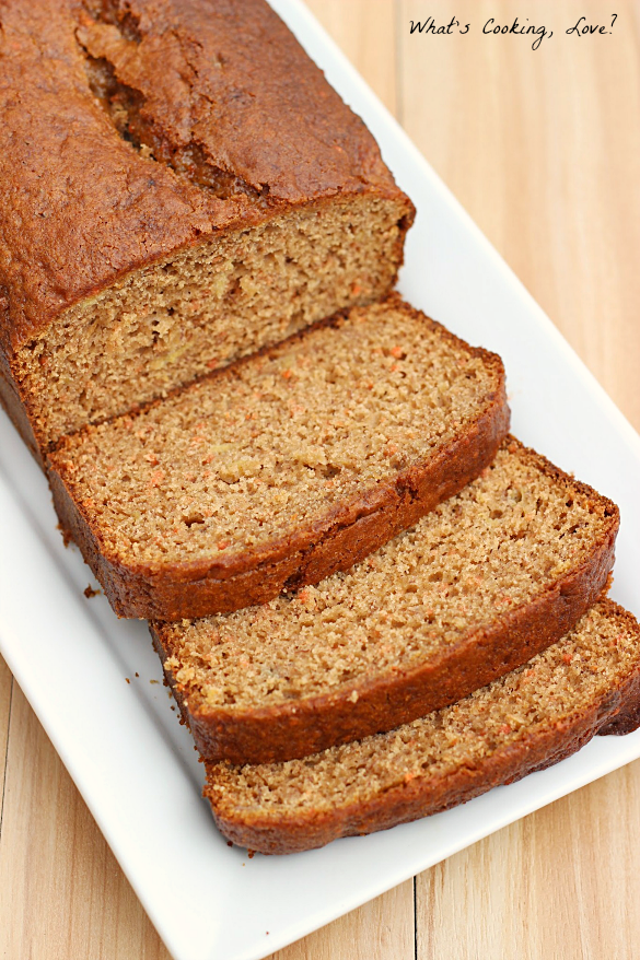 Carrot Cake Banana Bread - Whats Cooking Love?