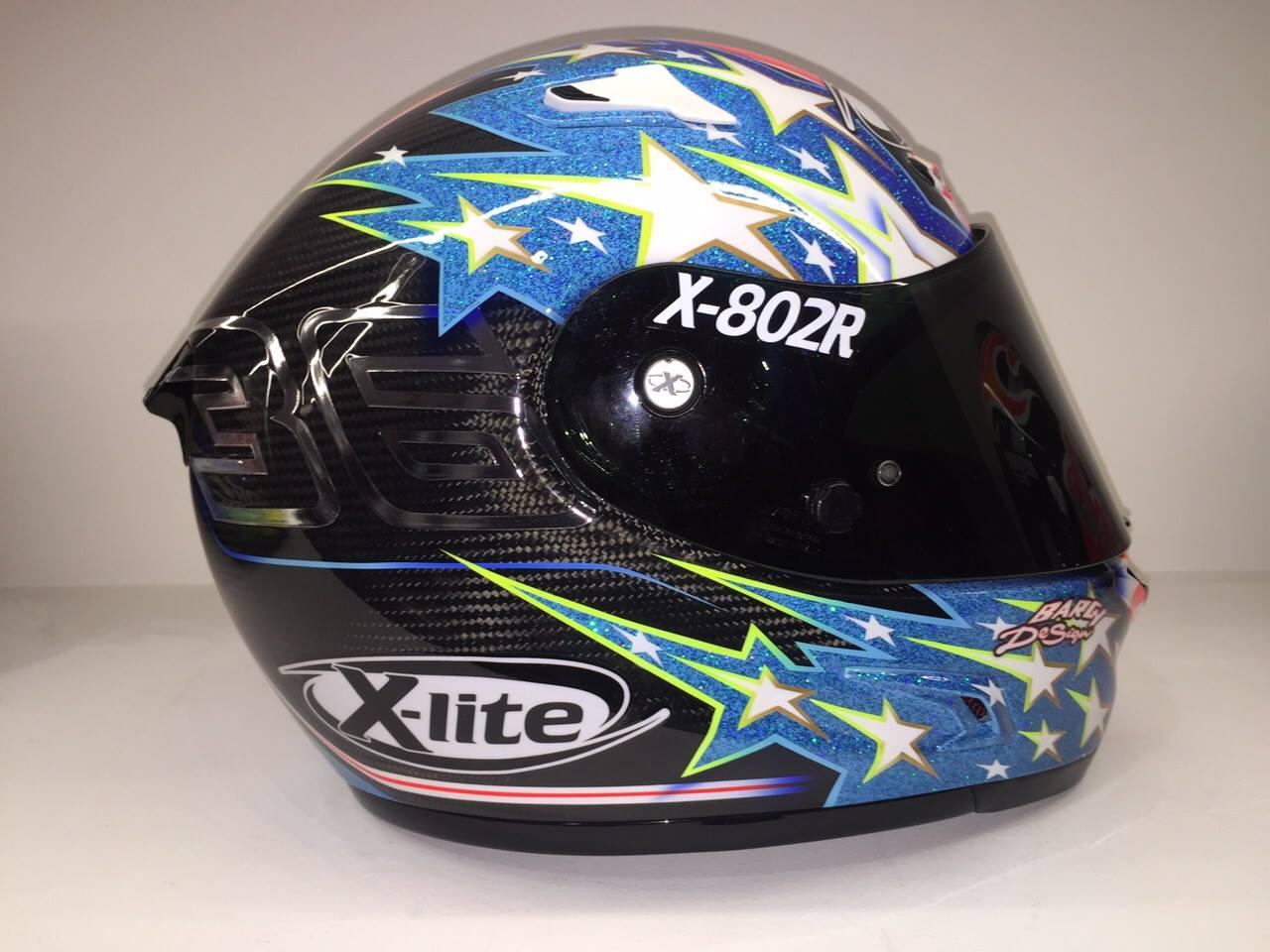 racing helmets garage x lite x 802r ultra carbon t. Black Bedroom Furniture Sets. Home Design Ideas
