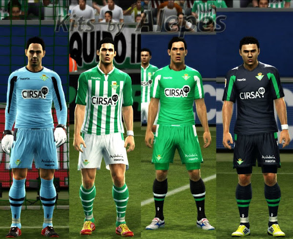 PES 2012 Real Betis 2012/13 Kits by Alepes