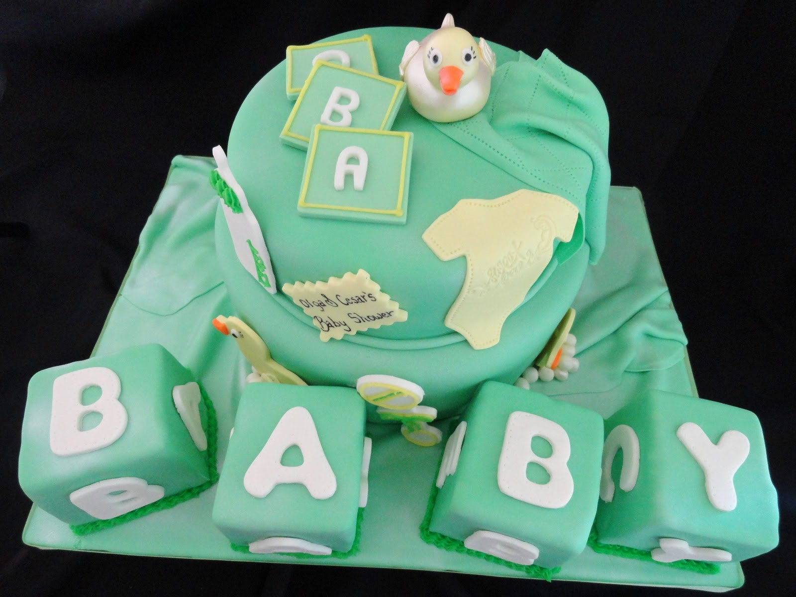 Pink Little Cake Ducky Baby Shower Cake