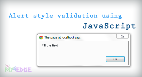 alert style validation using javascript