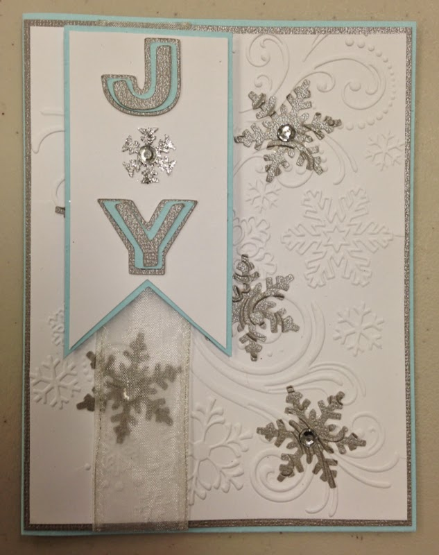 Snowflake card, Inlaid Embossing Technique
