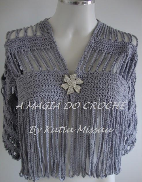 A MAGIA DO CROCHÊ - Katia Missau: Bolero Angélica | Fazer