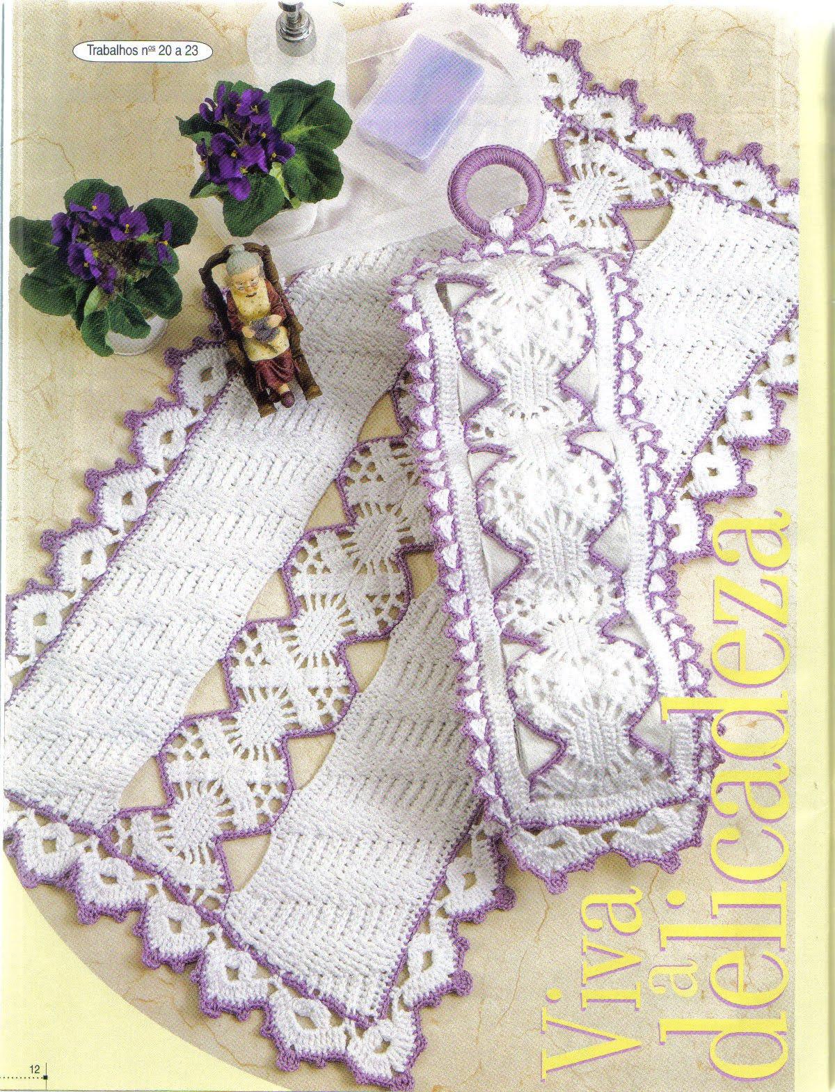 Crochê da Mag Jogo de banheiro em crochê -> Jogo De Banheiro Simples Em Croche