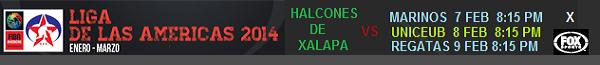 Halcones de Xalapa en la Liga de las Américas 2014