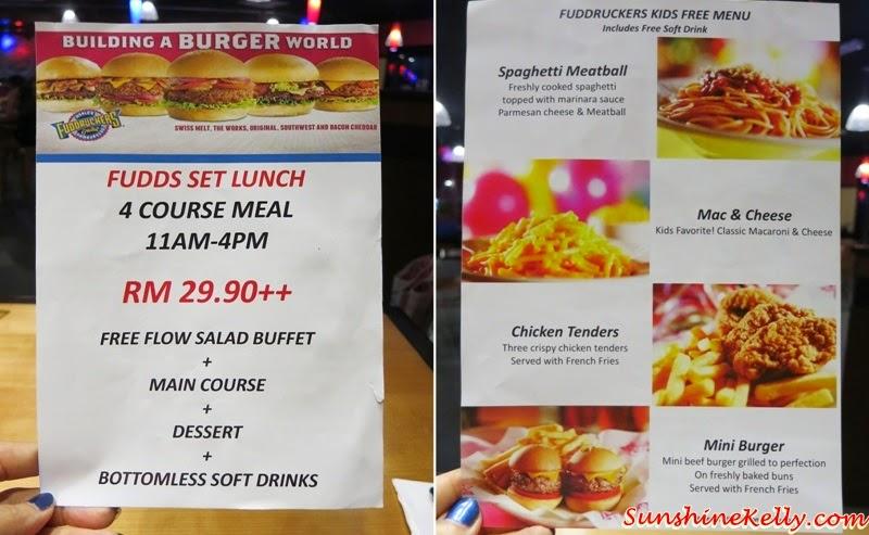 FUDDS Set Lunch Set, Kids Eat For Free, Fuddruckers Malaysia, American Casual Dining, Fuddruckers Lot10, Fuddrucker, American Food
