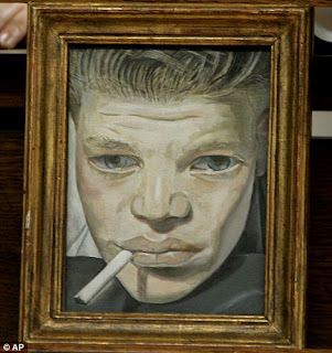 The national Portrait gallery, Lucian Freud Exhibition,Boy smoking,The art gallery