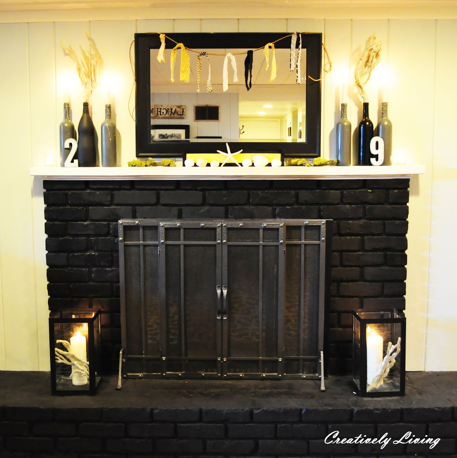summer mantel and fireplace makeover wtkw creatively living blog