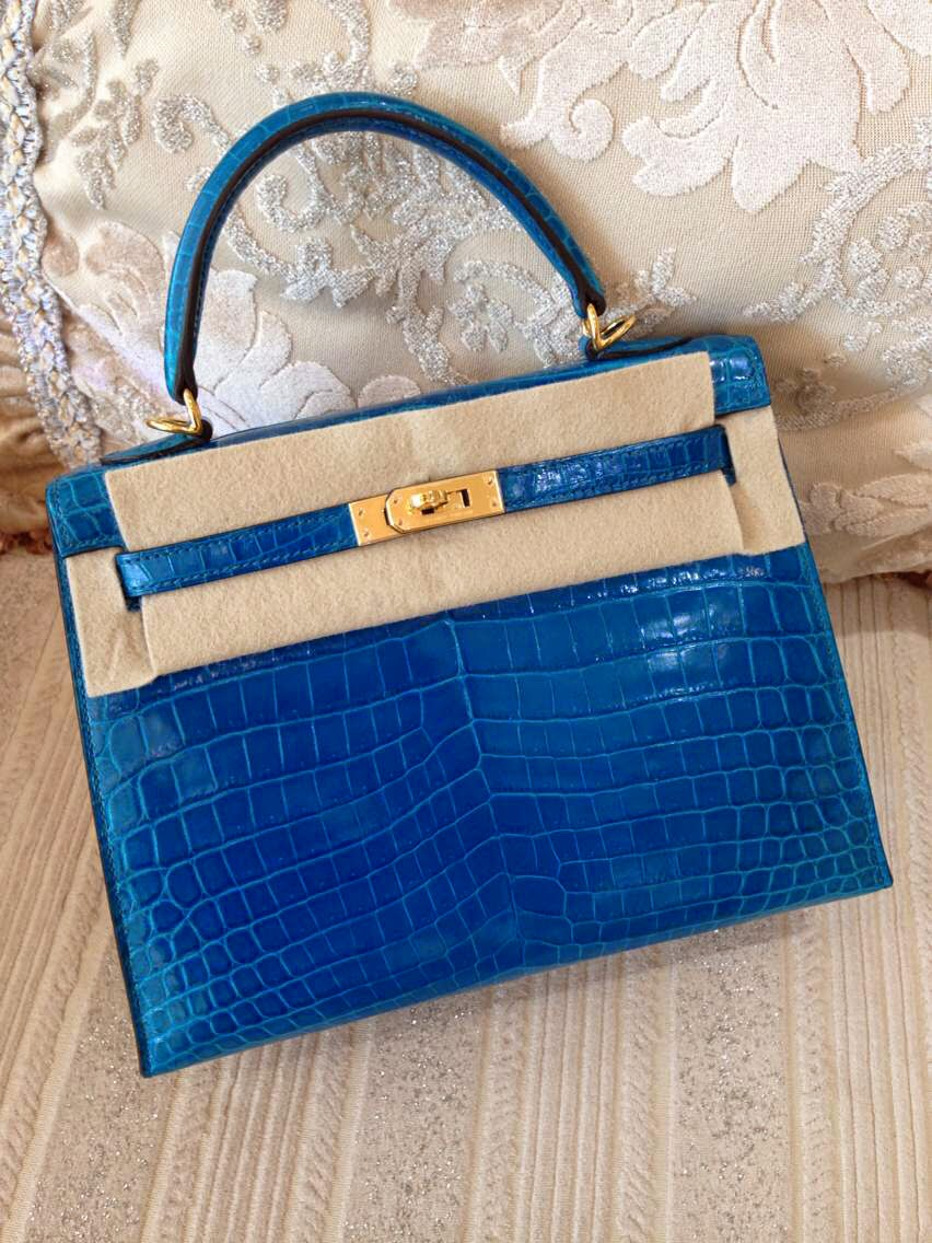 herme bags - hermes kelly cut clutch blue electric shiny niloticus crocodile ...