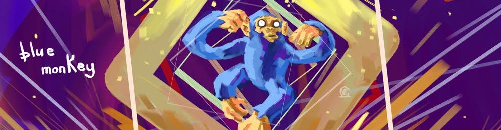 Clint the blue monkey