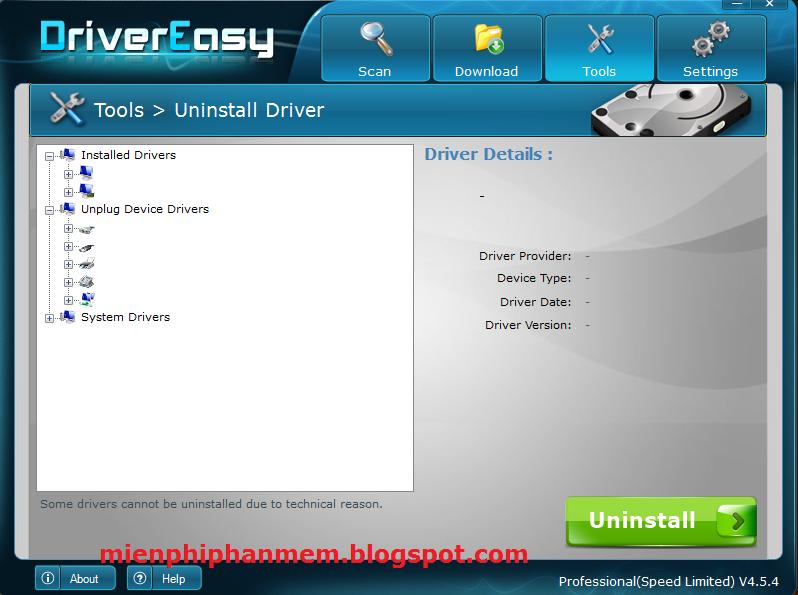 Gỡ bỏ những Driver dư thừa trên DriverEasy 4.5.4