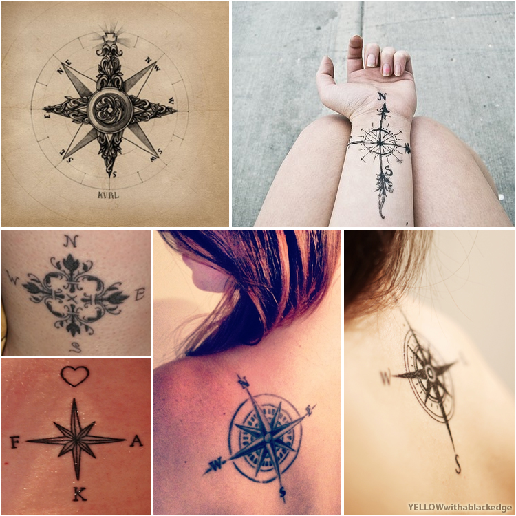 Yellow With a Black Edge: Travel tattoo ideas