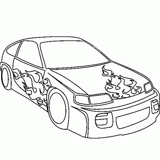 dibujo coche tunig: