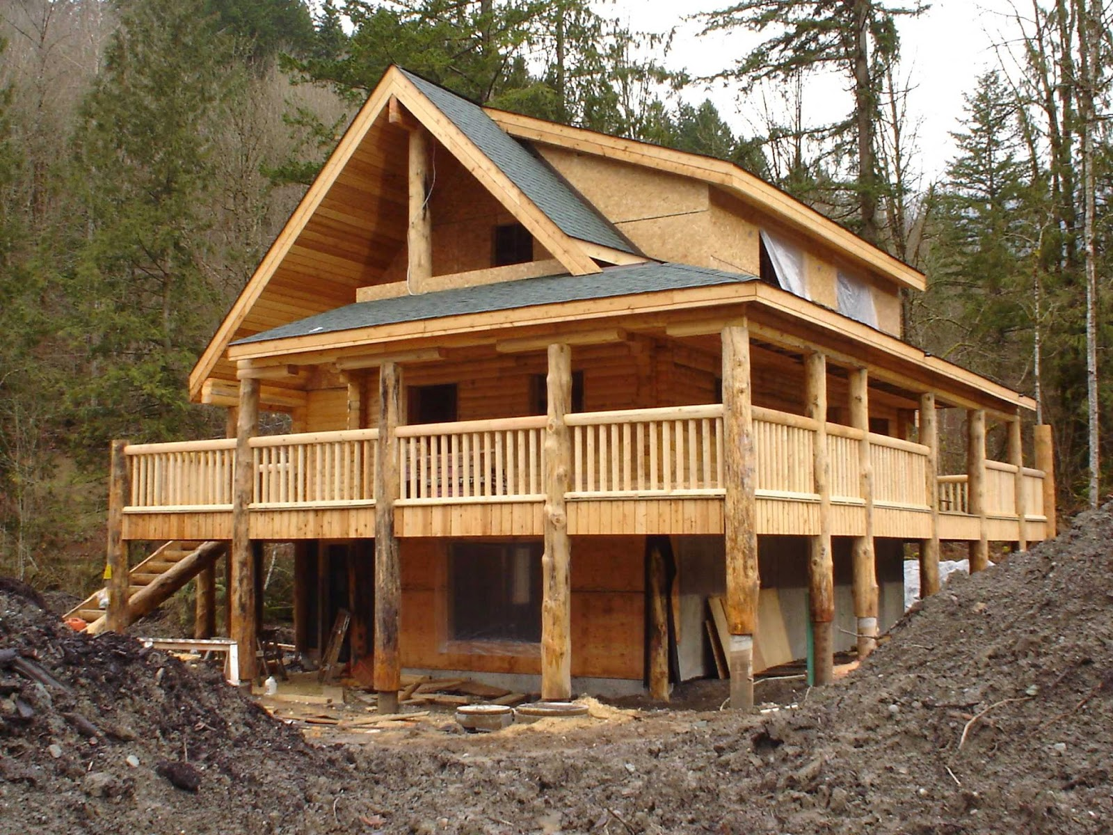 Wood mizer llc building a successful business with a for Unique log homes