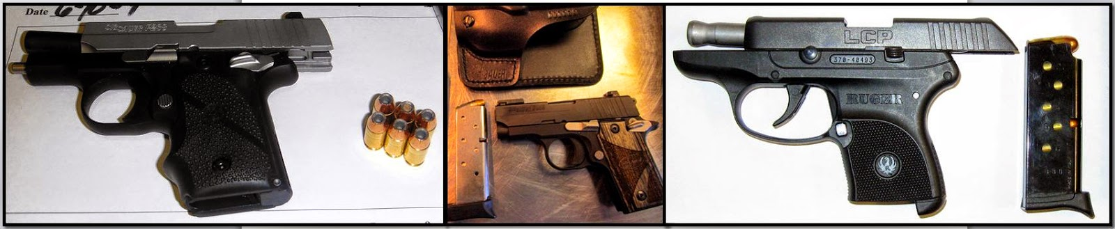 (L-R) Guns Discovered at IAH, SEA, OAJ