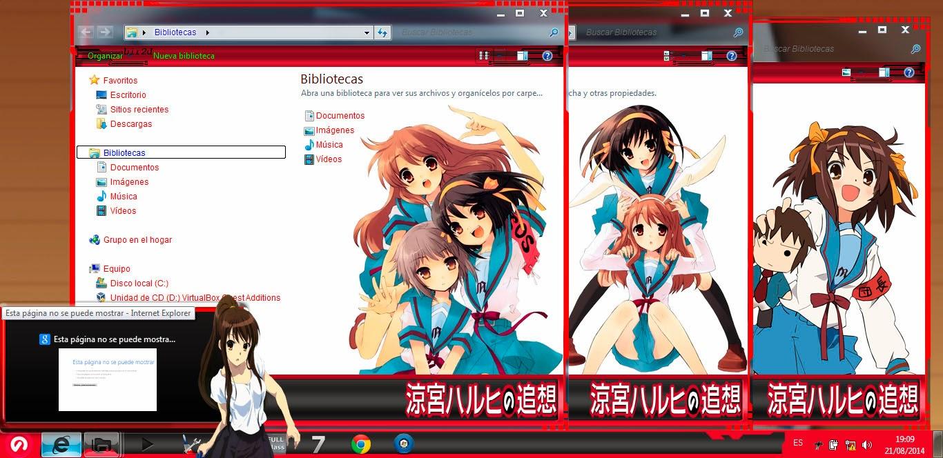 [ Theme Win 7 ] Suzumiya Haruhi 3